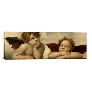 'The Two Angels' by Raphael Painting Print on Canvas by iCanvas