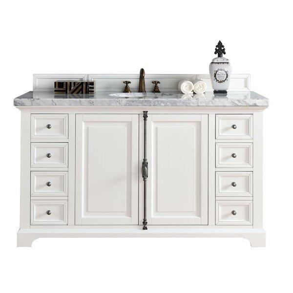 Ogallala 60 Single Ceramic Sink Cottage White Bathroom Vanity Set by Greyleigh
