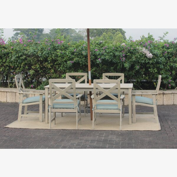 Englewood 7 Piece Dining Set With Cushions By Beachcrest Home