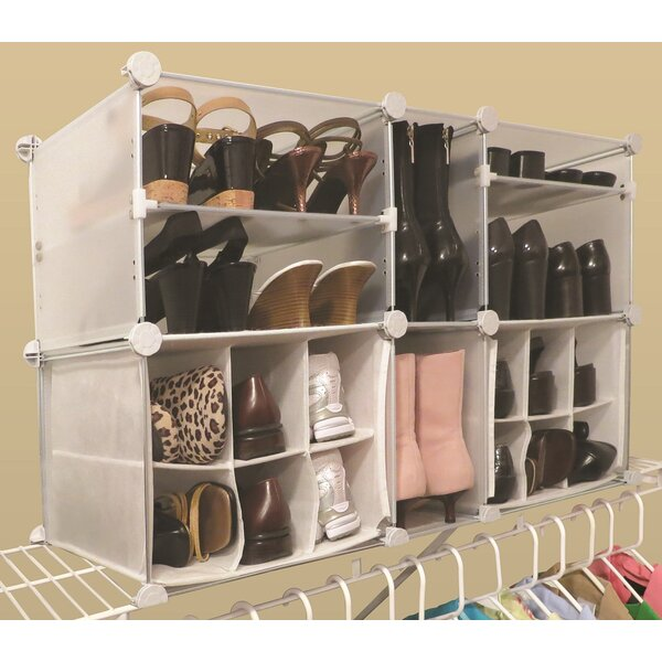 Modular 4-Tier and 14-Compartment 22 Pair Shoe Rack