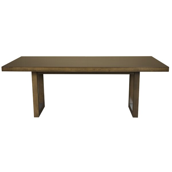 Fusco Maple Straight Edge Solid Wood Dining Table by Brayden Studio