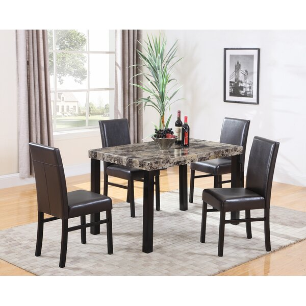 Loiseau 5 Piece Dining Set By Winston Porter