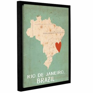 'Brazil' Framed Graphic Art on Wrapped Canvas by East Urban Home