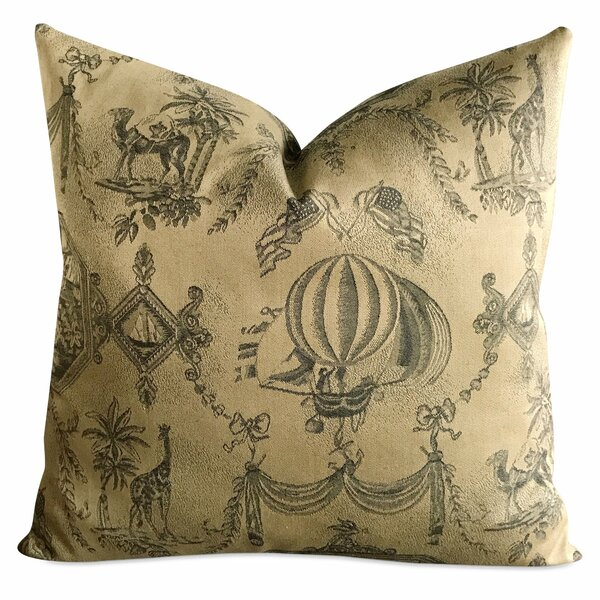 Bedford Exotic Vintage French Tapestry Bon Voyage Luxury Woven Decorative Pillow Cover by Bloomsbury Market