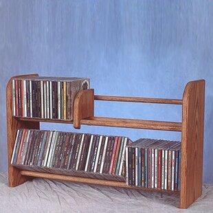 Best Price 200 Series 110 CD Multimedia Tabletop Storage Rack ByWood Shed