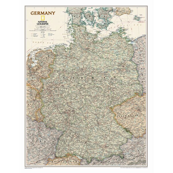 Germany Executive Wall Map by National Geographic Maps