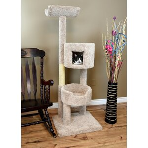 67″ New Solid Wood Deluxe Tower Cat Condo