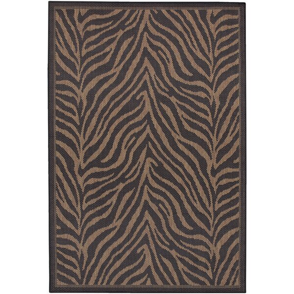 Sawtelle Black Indoor/Outdoor Area Rug by World Me
