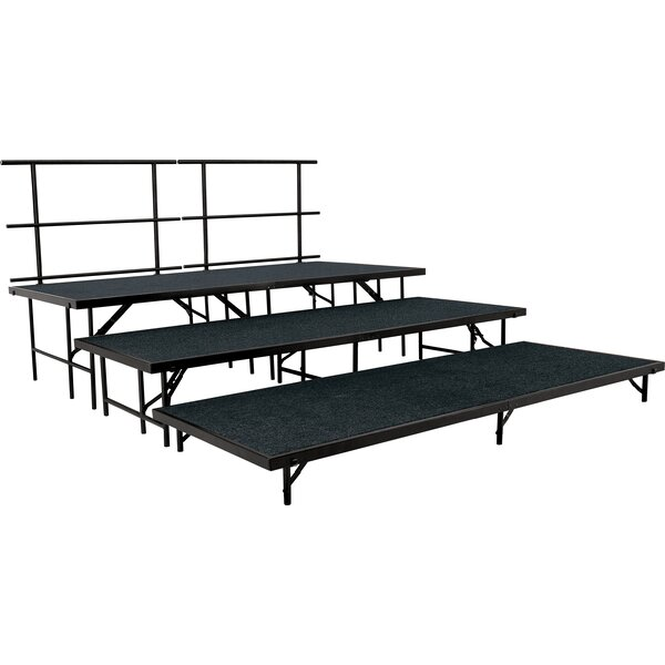 Portable Stage & Seated Carpet Stage Package by National Public Seating