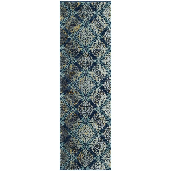 Ameesha Blue/Gray Area Rug by Bungalow Rose