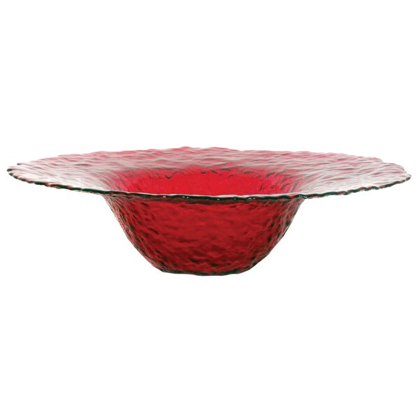 Round Red Glass Bowl by Latitude Run
