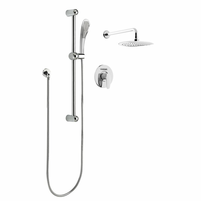 Rain Pressure Balanced Dual Function Complete Shower System