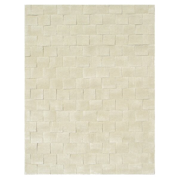 Tiksi Hand-Tufted Cream Area Rug by Meridian Rugmakers