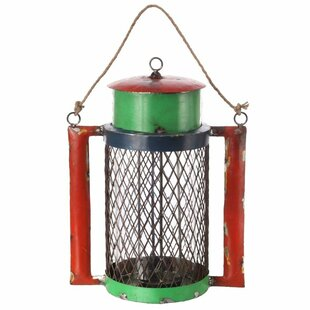 Best Reclaimed Metal and Glass Lantern with Handle By Loon Peak