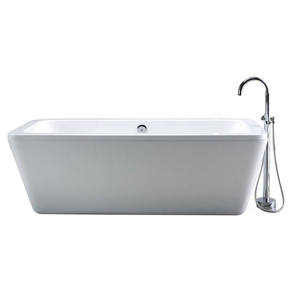 Rectangular Freestanding Bathtubs You\'ll Love | Wayfair
