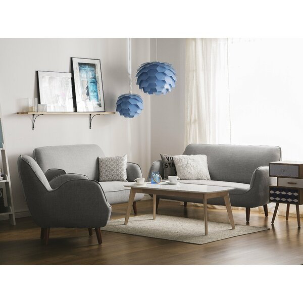 Best #1 Helland 3 Piece Living Room Set By George Oliver Great price
