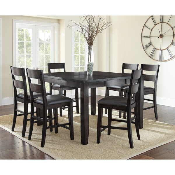 Wynwood 7 Piece Counter Height Solid Wood Dining Set by Alcott Hill Alcott Hill