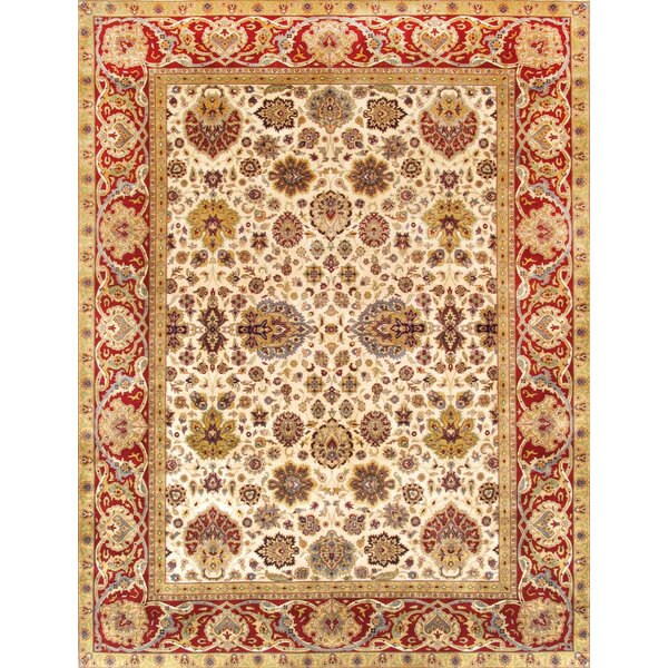 Tabriz Hand-Knotted Ivory Area Rug by Pasargad