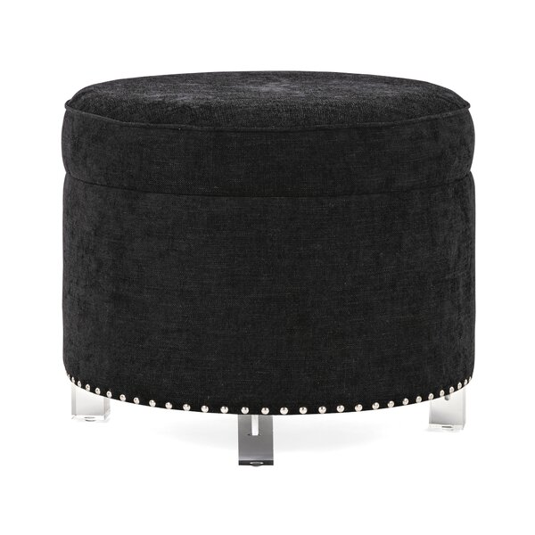 Wilmslow Velvet and Acrylic Storage Ottoman by House of Hampton