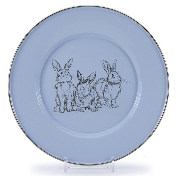 Harriotte Bunnies 8.5 Salad Plate (Set of 4) by Gracie Oaks
