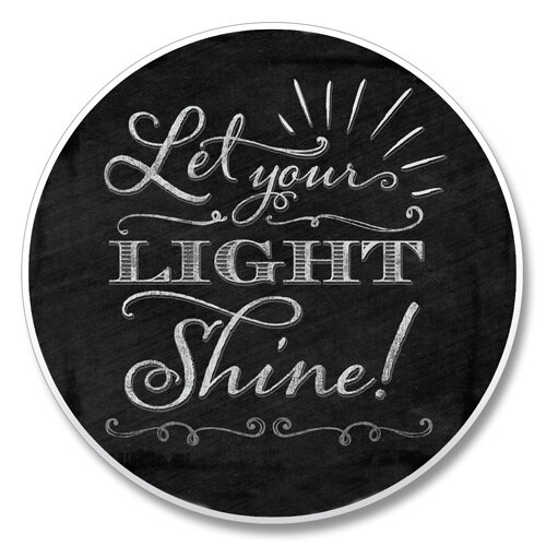 Let Your Light Shine Chalk Auto Coaster by Winston Porter