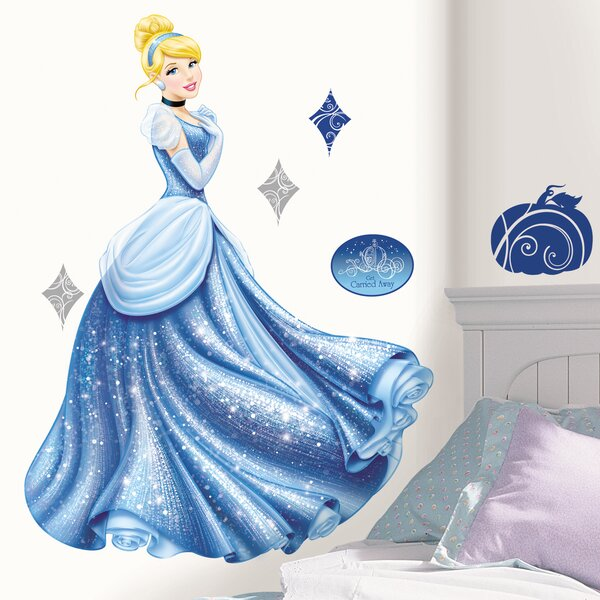 Popular Characters Disney Princess Cinderella Glamour Giant Wall Decal by Room Mates