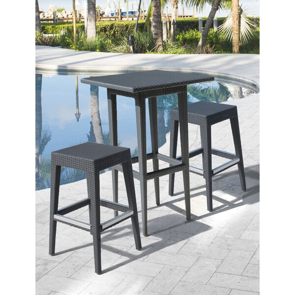 Onyx 3 Piece Bar Height Dining Set by Panama Jack Outdoor