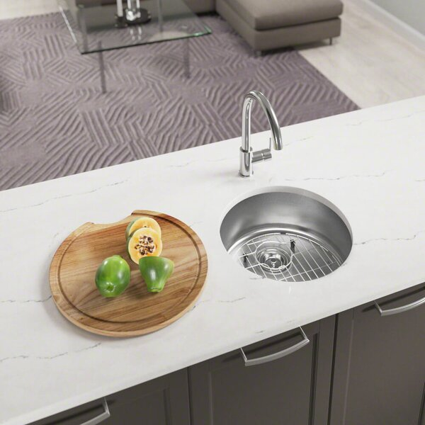 Stainless Steel 18 x 18 Undermount Bar Sink by MR Direct
