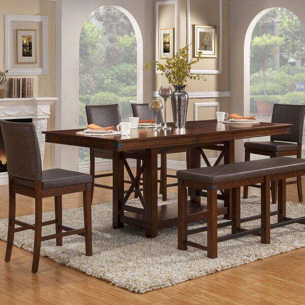Wayland 6 Piece Extendable Dining Set by Loon Peak