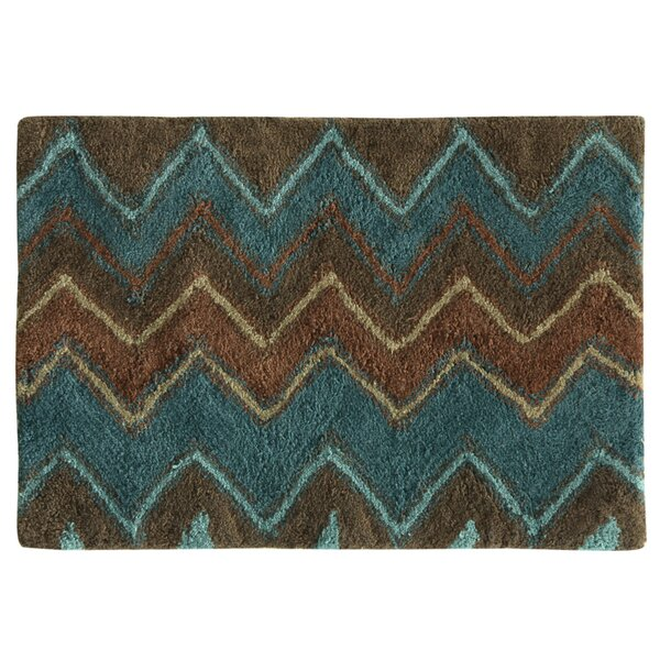 Charee Zigzag Bath Rug by Bloomsbury Market