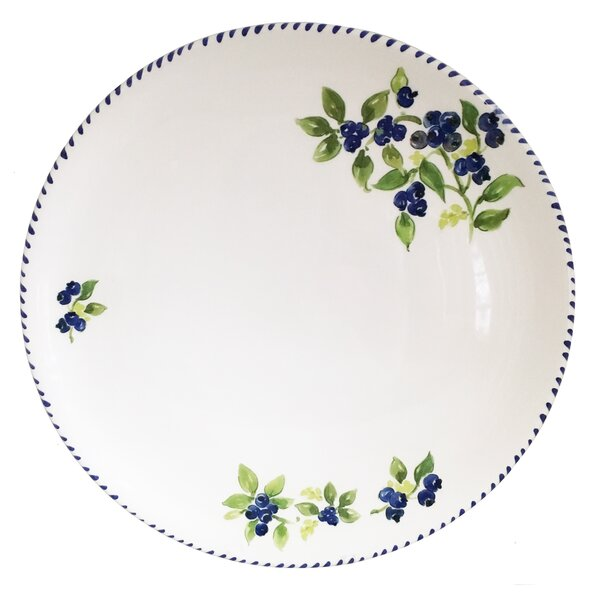 Greenpoint Blueberry Round Platter by August Grove