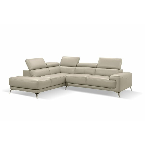 Mcclary Modern Leather Sectional by Orren Ellis