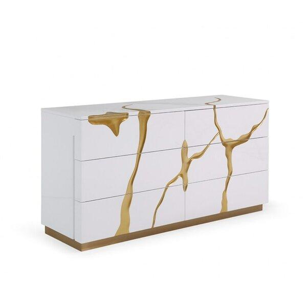 Longmeadow 6 Drawer Double Dresser by Everly Quinn
