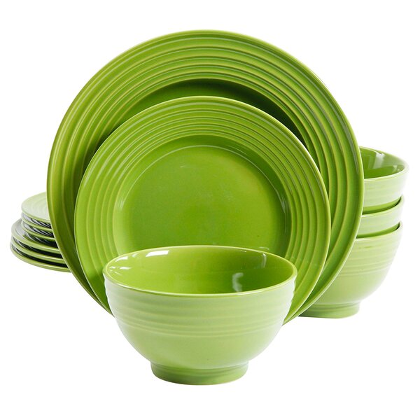 Fianna 12 Piece Dinnerware Set, Service for 4 by Highland Dunes