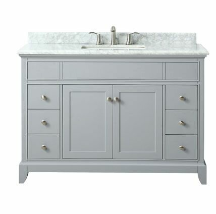 Bhushan Marble Top 49 Single Bathroom Vanity Set by Red Barrel Studio