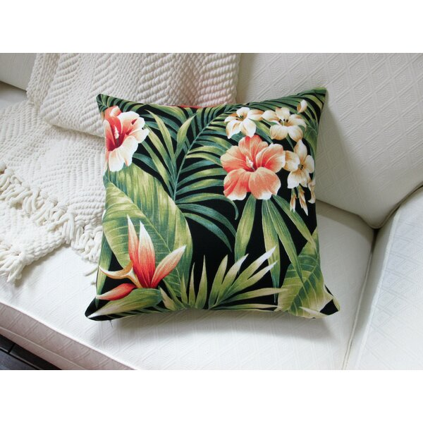 Lacluta Palm Flower Indoor/Outdoor Pillow by Bayou Breeze