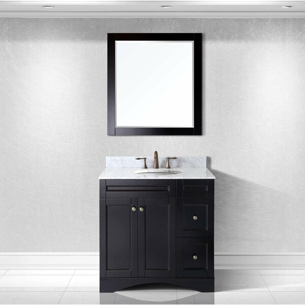Borough Park Modern 36 Single Bathroom Vanity Set with Mirror