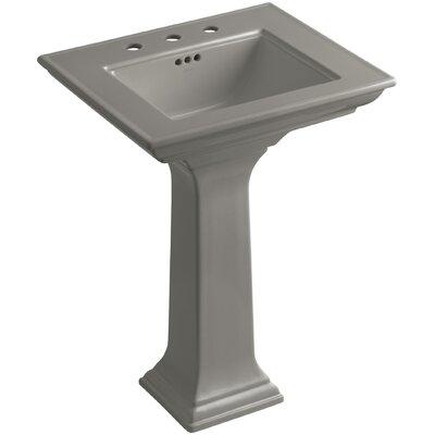 Pedestal Sink Ceramic Overflow Sink Faucet Mount photo
