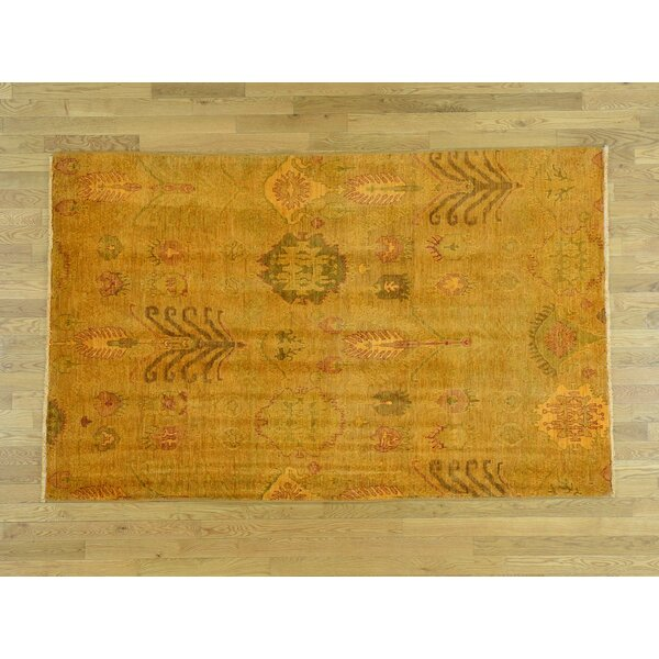 One-of-a-Kind Blackledge Overdyed Ikat Handwoven Wool Area Rug by Isabelline