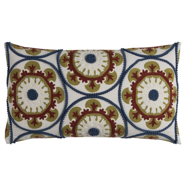 Bloomville Cotton Lumbar Pillow by Red Barrel Studio
