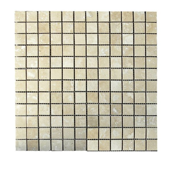 Honed 1 x 1 Natural Stone Mosaic Tile in Walnut by QDI Surfaces