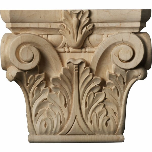 Floral Roman Corinthian 8 3/8H x 9 1/2W x 3 1/4D Medium Capital by Ekena Millwork