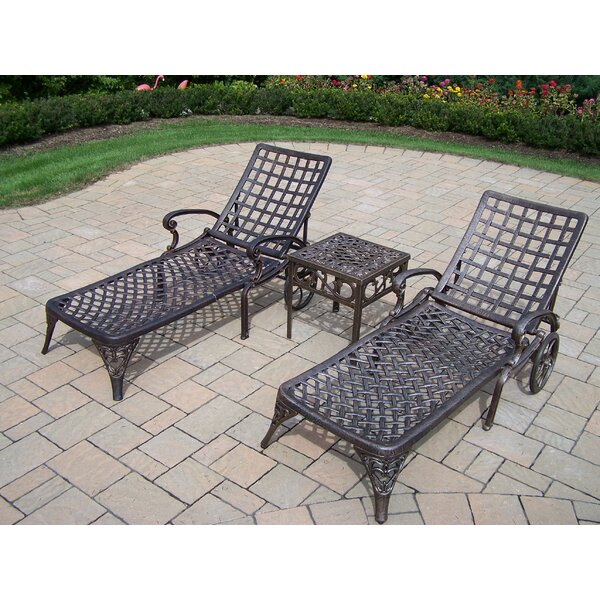 Thelma Three Piece Chaise Lounge Set by Astoria Grand