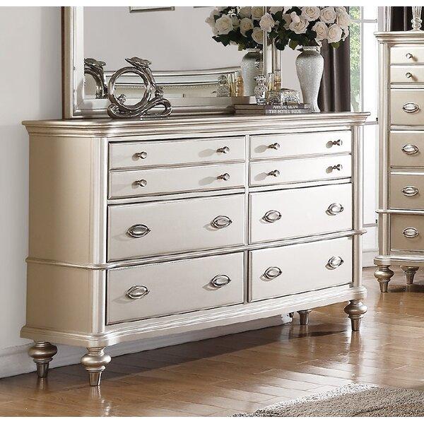 Tiya 6 Drawer Double Dresser by House of Hampton
