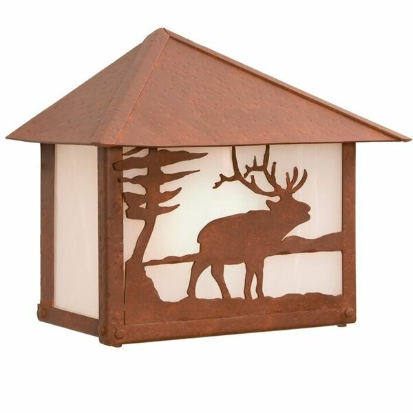 Elk 1-Light Outdoor Flush Mount by Steel Partners