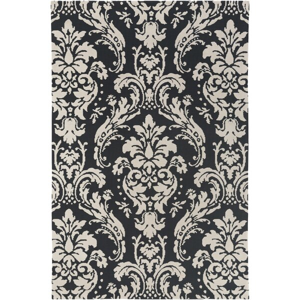 Lade Black/Beige Area Rug by House of Hampton