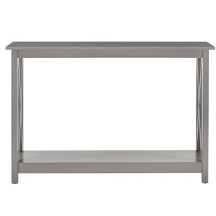 Rhymer X-Frame Solid Wood Console Table by August Grove