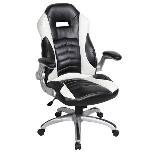 Lackey Genuine Leather Executive Chair by Symple Stuff