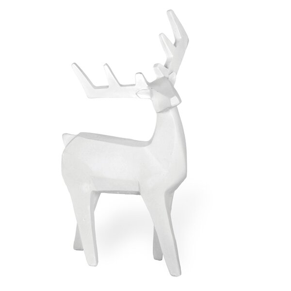 Alabaster Standing Deer Figurine Set (Set of 2) by The Holiday Aisle