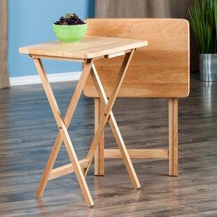Buy luxury Jacobsen Snack Tray Table (Set of 2) ByAlcott Hill